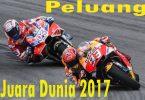 Peluang Juara Dunia MotoGP 2017 Marc Marquez dan Andrea Dovizioso